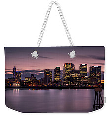 Weekender Tote Bag featuring the photograph Canary Wharf by Ryan Photography
