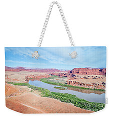 Canyon Of Colorado River In Utah Aerial View Weekender Tote Bag
