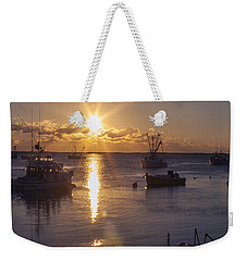 Weekender Tote Bag featuring the photograph Chatham Sunrise by Charles Harden