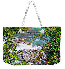 Weekender Tote Bag featuring the photograph Cheakamus River by Sharon Talson