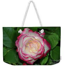Cherry Parfait Rose Weekender Tote Bag by Glenn Franco Simmons