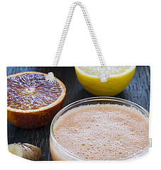 Citrus Smoothies Weekender Tote Bag by Elena Elisseeva