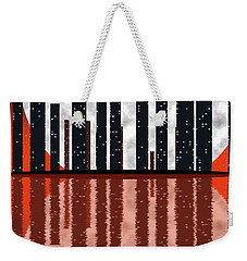 City Skyline At Full Moon Weekender Tote Bag by Michal Boubin