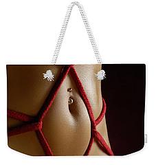 Closeup Of A Stomach With Decorative Rope Bondage Shibari Weekender Tote Bag