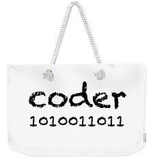 Coder Weekender Tote Bag by Bill Owen