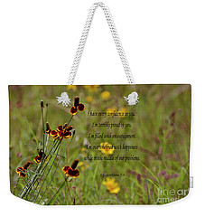 Weekender Tote Bag featuring the photograph 2 Corinthians 7 V 4 by Debby Pueschel