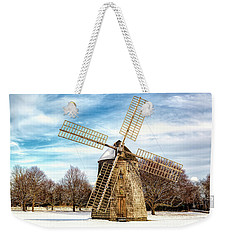 Weekender Tote Bag featuring the photograph Corwith Windmill Long Island Ny Cii by Susan Candelario