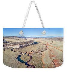 creek at  Colorado foothills - aerial view Weekender Tote Bag