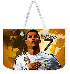 Cristiano Ronaldo Weekender Tote Bag by Semih Yurdabak
