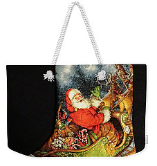 Cross-stitch Stocking Weekender Tote Bag