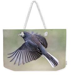Dark Eyed Junco Flying Weekender Tote Bag