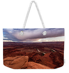 Weekender Tote Bag featuring the photograph Dead Horse Point by Jay Stockhaus