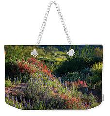 Weekender Tote Bag featuring the photograph Desert Wildflowers  by Saija Lehtonen
