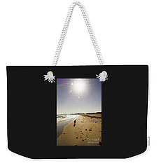 Weekender Tote Bag featuring the photograph Dog Beach by Cassandra Buckley