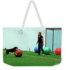 Weekender Tote Bag featuring the photograph Donna And Molly by Fred Stearns