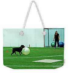 Weekender Tote Bag featuring the photograph Donna And Sinjin by Fred Stearns
