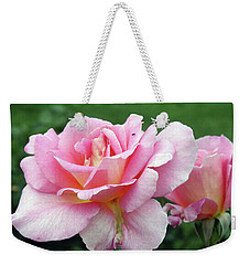 Double Pink Weekender Tote Bag by Ellen Tully