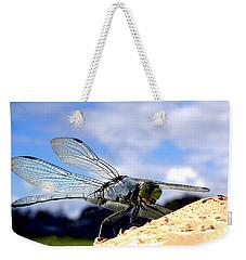 Dragonfly On A Mushroom 001  Weekender Tote Bag