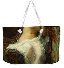 Weekender Tote Bag featuring the painting Echo by Alexandre Cabanel