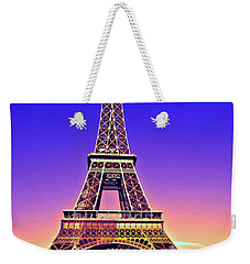 Eiffel Tower Weekender Tote Bag by Charuhas Images