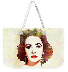 Elizabeth Taylor, Vintage Actress Weekender Tote Bag