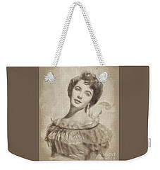 Elizabeth Taylor, Vintage Hollywood Legend By John Springfield Weekender Tote Bag