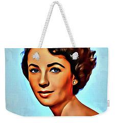 Elizabeth Taylor, Vintage Hollywood Legend Weekender Tote Bag