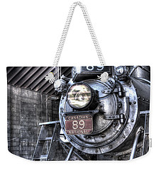 Engine 89 In Shed Weekender Tote Bag by Paul W Faust - Impressions of Light