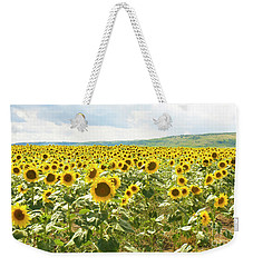 Field With Sunflowers Weekender Tote Bag