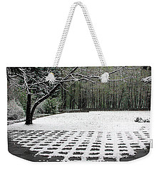 First Snow Fall Weekender Tote Bag