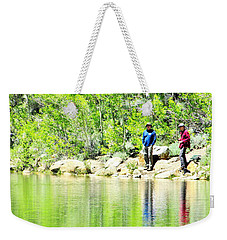 Fishing Weekender Tote Bag by Marilyn Diaz