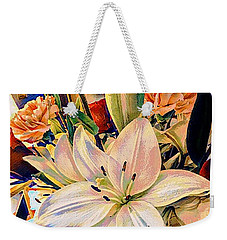 Flowers For You Weekender Tote Bag by MaryLee Parker