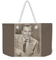 Frank Sinatra Hollywood Singer And Actor Weekender Tote Bag by John Springfield