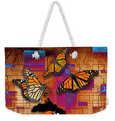 Weekender Tote Bag featuring the mixed media Freedom To Be by Marvin Blaine