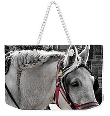 French Braided Gray Weekender Tote Bag