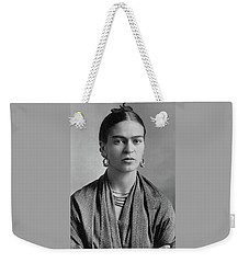 Weekender Tote Bag featuring the painting Frida Kahlo by Pg Reproductions