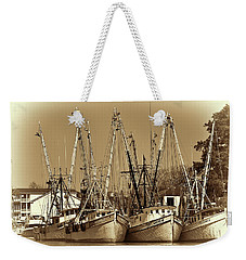 Weekender Tote Bag featuring the photograph Georgetown Shrimpers by Bill Barber
