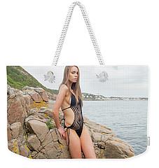 Girl In Black Swimsuit Weekender Tote Bag