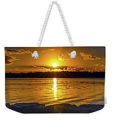 Golden Sunrise Waterscape Weekender Tote Bag