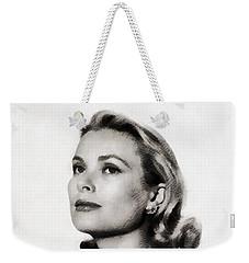 Grace Kelly, Vintage Hollywood Actress Weekender Tote Bag by John Springfield