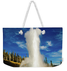 Weekender Tote Bag featuring the photograph Grand Geyser by Norman Hall