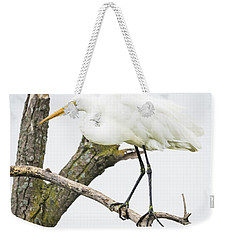 Weekender Tote Bag featuring the photograph Great Egret by Ricky L Jones