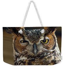 Great Horned Owl Weekender Tote Bag by John Black