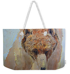 Weekender Tote Bag featuring the painting Grizzly by Laurianna Taylor