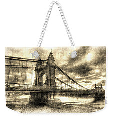 Hammersmith Bridge London Vintage Weekender Tote Bag