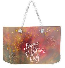 Happy Valentines Day  Weekender Tote Bag