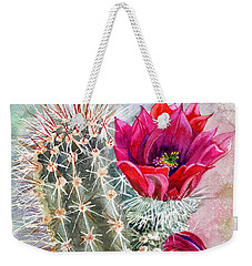 Hedgehog Cactus Weekender Tote Bag