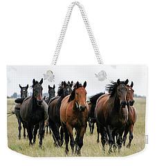 Horse Herd On The Hungarian Puszta Weekender Tote Bag