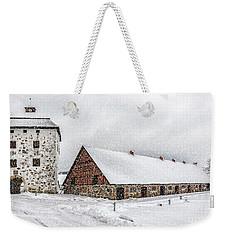 Hovdala Castle In Winter Weekender Tote Bag by Antony McAulay