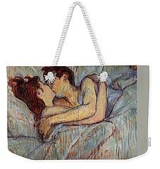 In Bed, The Kiss  Weekender Tote Bag